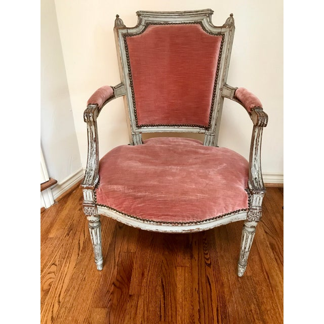 Mauve 1900 French Louis XVI Chair For Sale - Image 8 of 8
