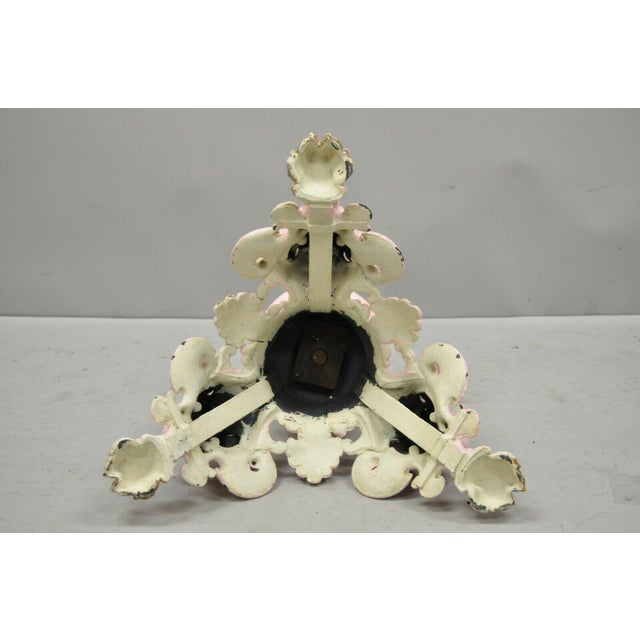 Antique French Empire Style Cast Iron Pedestal Side Table Base With Lions For Sale - Image 10 of 13