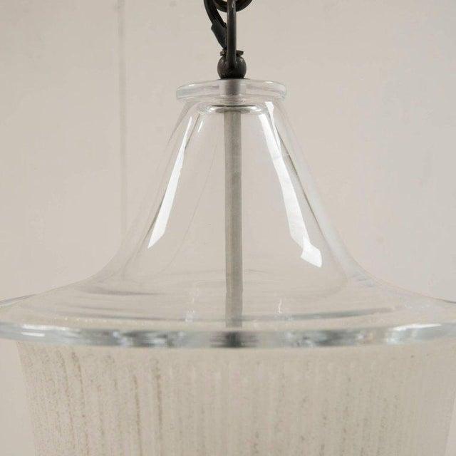 1950s Murano Ceiling Light in Antico Venini Glass, Italy, Circa 1950 For Sale - Image 5 of 9