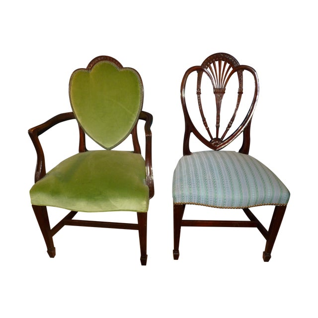 Mahogany Heart Shieldback Chairs - Set of 12 - Image 1 of 9