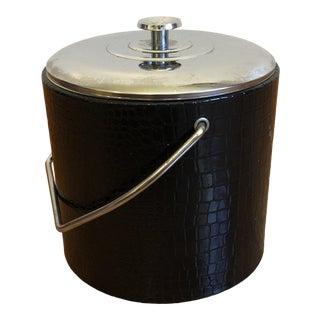 1960s Mid-Century Shelton Ware Ice Bucket in Faux Croc Pattern For Sale