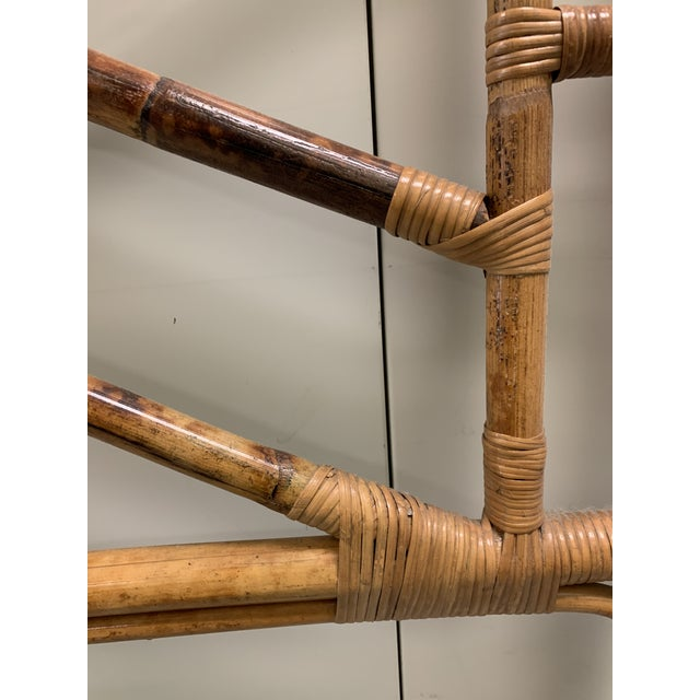 Bent Bamboo Full Size Headboard For Sale In New York - Image 6 of 13
