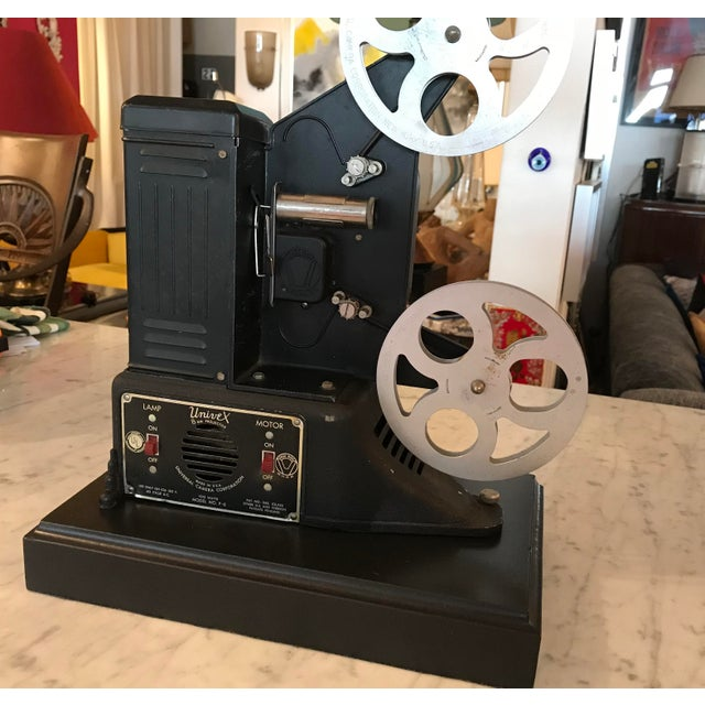 Custom Vintage Movie Projector Table Lamp For Sale - Image 4 of 9