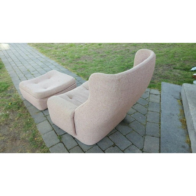 W & J Sloane Mid-Century Chair & Ottoman For Sale - Image 4 of 5