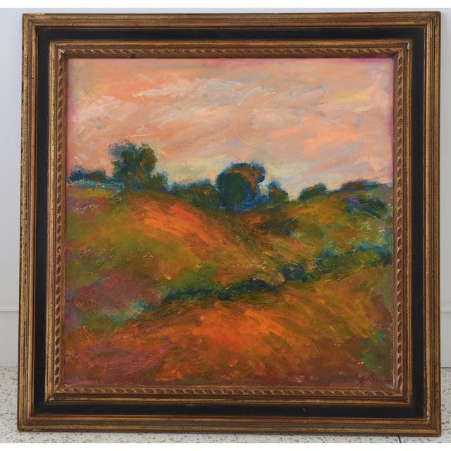 Blue Large Original Juan Pepe Guzman, Ojai California Oil Painting For Sale - Image 8 of 9