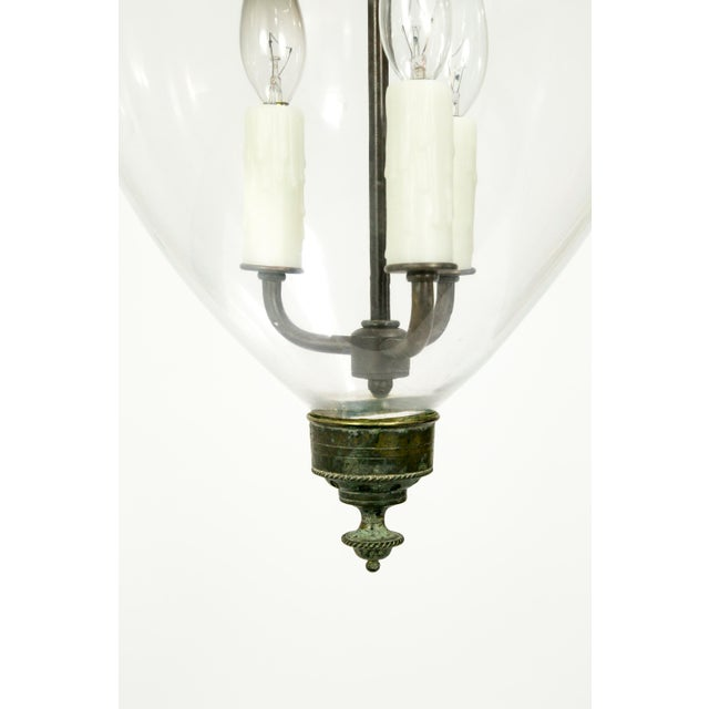 Victorian English Bell Jar Lighting For Sale - Image 4 of 8