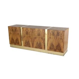 Mid Century Milo Baughman Thayer Coggin Rosewood Brass Dresser Chest For Sale