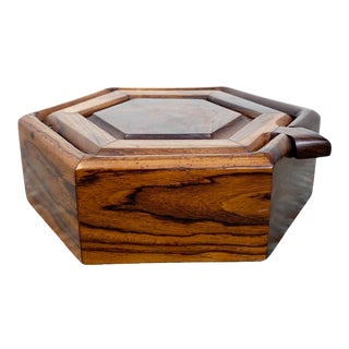 Hexagonal Cocobolo Rosewood Jewelry Box For Sale