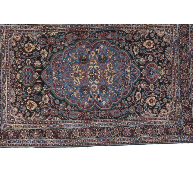 Islamic Leon Banilivi Antique Dorokhsh Rug - 4′8″ × 7′3″ For Sale - Image 3 of 5