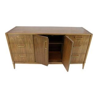 Satinwood Brass Pulls Dresser Credenza For Sale