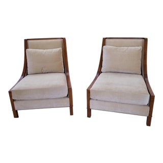 Modern Barbara Barry Baker Lounge Chairs-A Pair For Sale