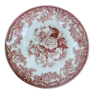 "The Spode Archive Collection British Flowers 9"" Pasta Bowl For Sale"