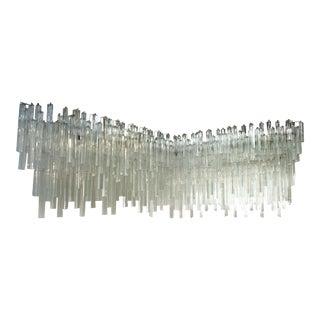 Venini Triedri Glass Prism Wall Corner Sconce For Sale