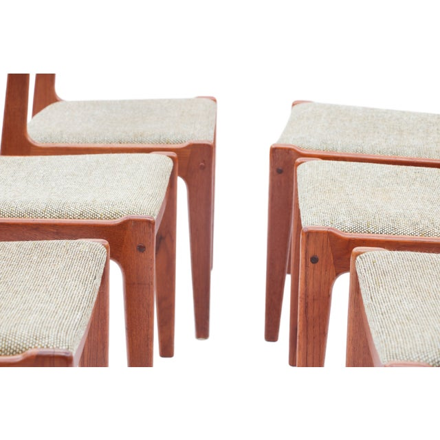 Scandinavian Danish Modern Teak Dining Chairs- S/6 - Image 5 of 10