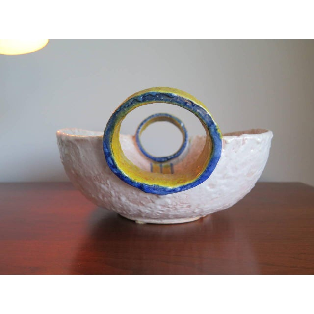 Mid-Century Modern Unusual Ceramic Vessel by Raymor, Italy For Sale - Image 3 of 10