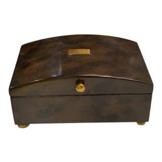 Art Deco Maitland-Smith Tortoise Box For Sale