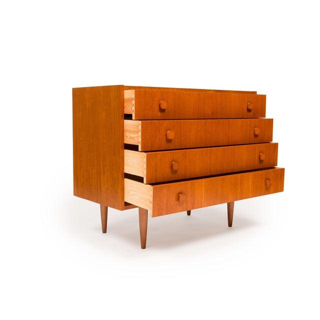 Vintage Danish Mid-Century Teak Four Drawer Dresser For Sale - Image 4 of 9