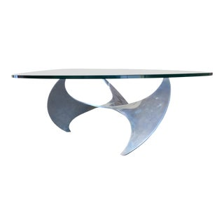 Aluminum and Glass Propeller Table by Knut Hesterberg