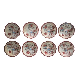 19th Century Small Hand Painted Japanese Plates - Set of 8 For Sale