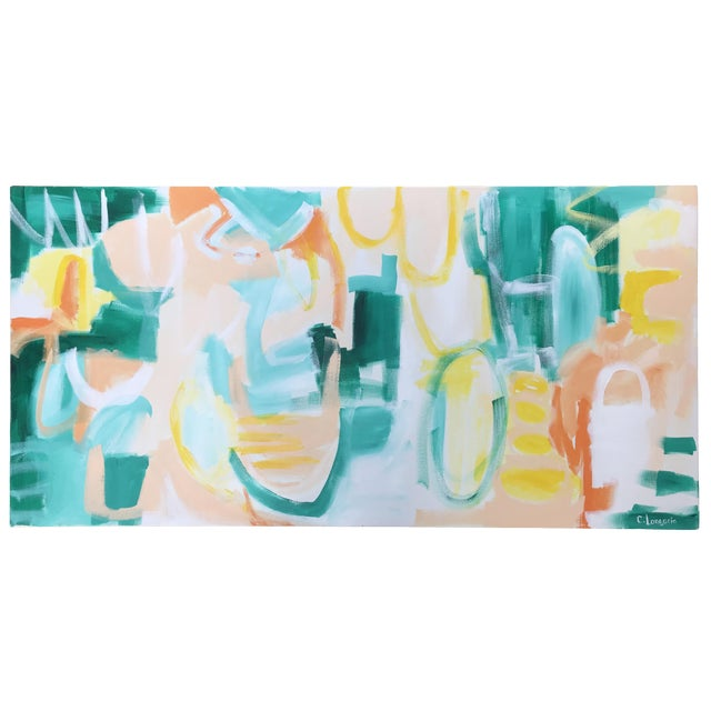 """Christina Longoria """"Summer Garden"""" Contemporary Abstract Painting For Sale"""