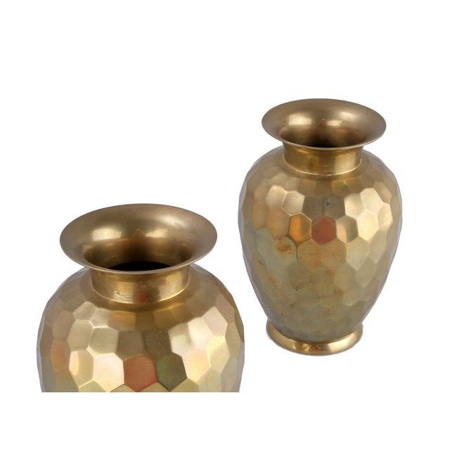 Decorative Brass Vases - Pair - Image 5 of 7