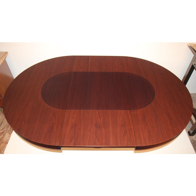 Mid-Century Modern Walnut Dining Table - Image 4 of 5