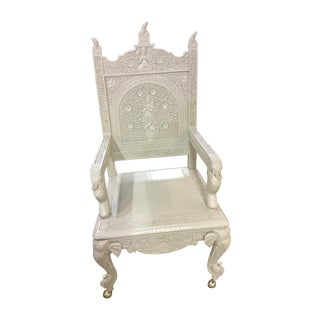 Rare Gampel Stoll Carved Hollywood Regency Chair For Sale