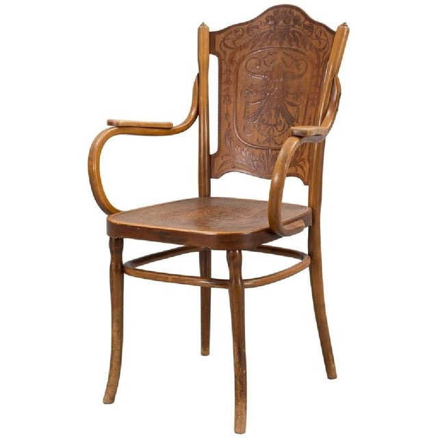 Pair of Vienna Secession Armchair by Jakob & Josef Kohn, 1900s For Sale - Image 6 of 6