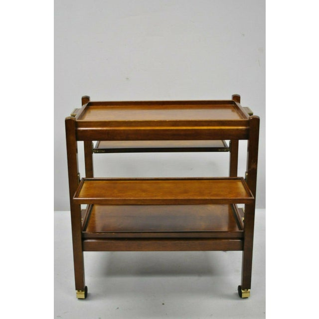 The Bombay Company Modern Rolling Folding Bar Cart For Sale - Image 12 of 13