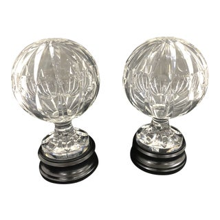 1950s Hollywood Regency Glass Orbs - a Pair For Sale