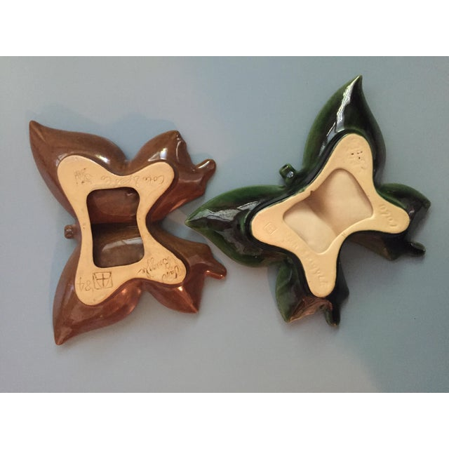 Art Nouveau Van Briggle Pottery Butterfly Ashtrays - a Pair For Sale - Image 3 of 4