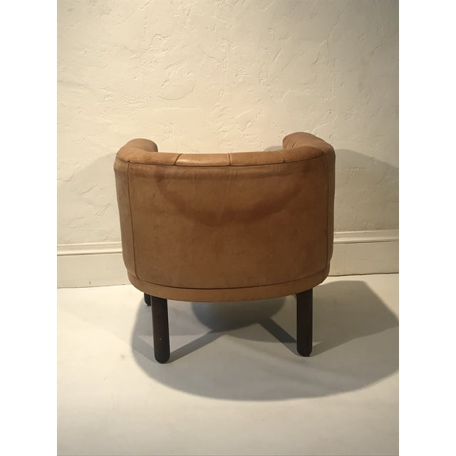 1960s 1960s Vintage Cassina Figli DI Amedeo Tufted Leather Club Chair For Sale - Image 5 of 12
