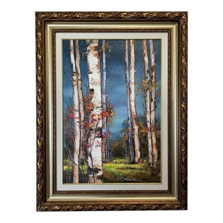 Michael Milkin Oil on Canvas Landscape Painting For Sale