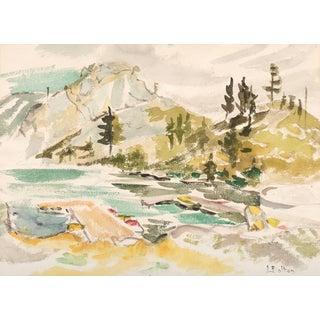 Joyce Bolton, 'Mountain Landscape', Circa 1965 For Sale
