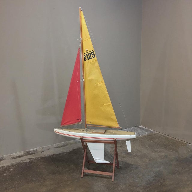 Mid-Century Scale 12 Meter Racing Yacht was scaled down from the real thing~ racing yachts designed to compete for the...
