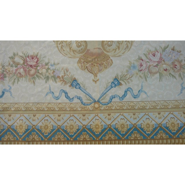 Antique French Aubusson Rug - 9′3″ × 10′3″ - Image 4 of 7