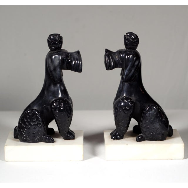 Early 20th C. Alabaster Poodle Bookends - Pair - Image 2 of 5