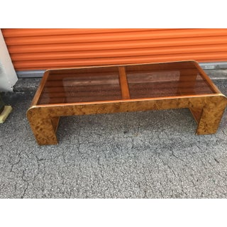 1980s Art Deco Coffee Table Made of Glass Top Wood and Press Wood Preview