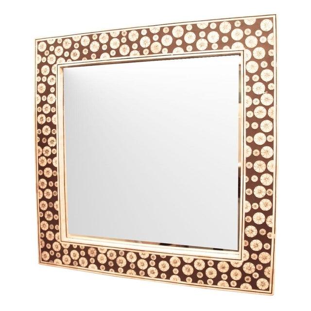 Square Inlaid Bone Mirror - Image 1 of 3