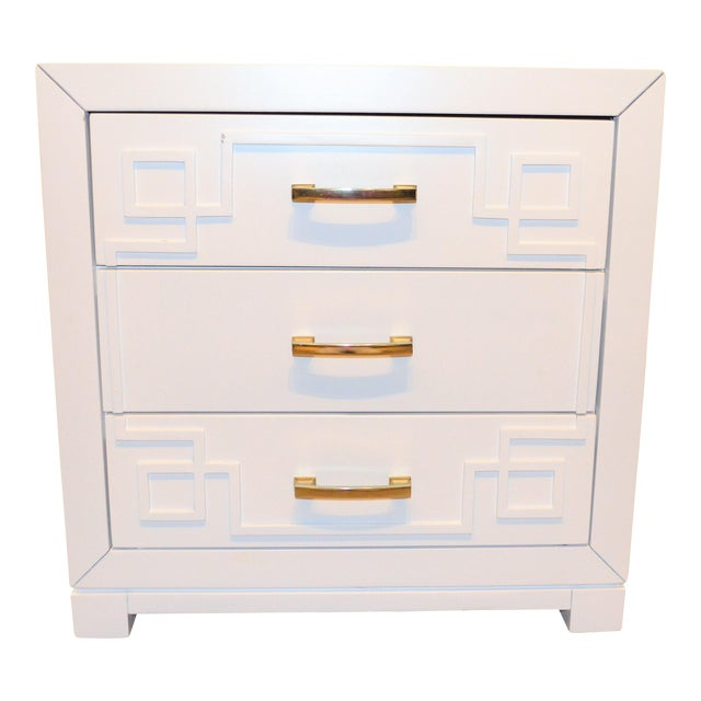 Chinoiserie Greek Key Night Stand - Image 2 of 10