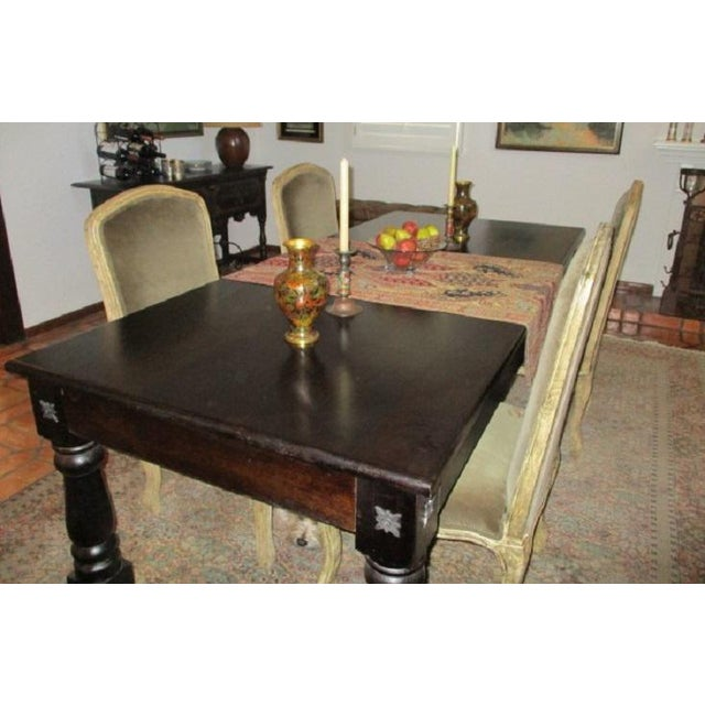Iron Dining Table Rectangular Rustic Modern Farm Style Seats 8 For Sale - Image 7 of 8