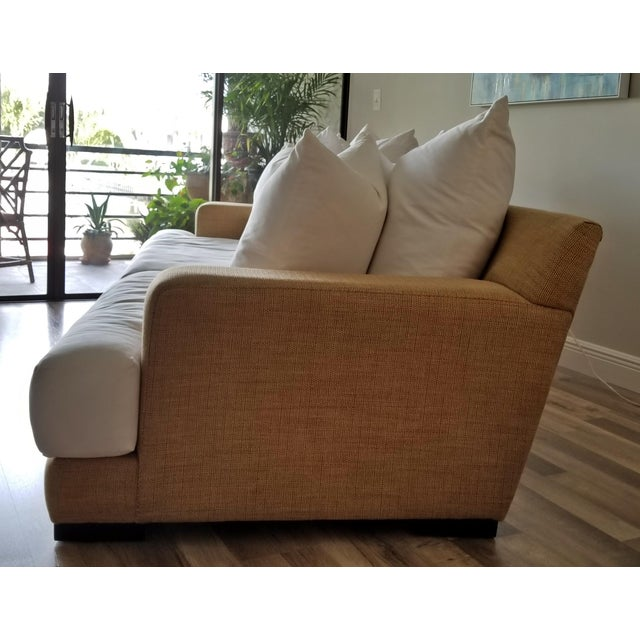 Canvas Resort Style Modern Oversized White & Sand Sofa and Chair - Set of 2 For Sale - Image 7 of 13