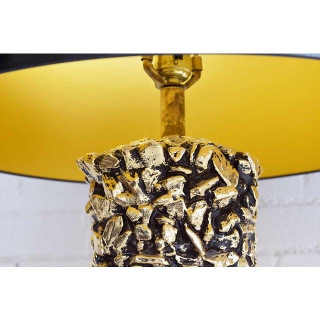 Ceramic Gilt Ceramic Nugget Lamps - A Pair For Sale - Image 7 of 11