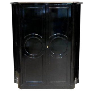 1920s French Maison Jansen Ebonized Tall Cabinet