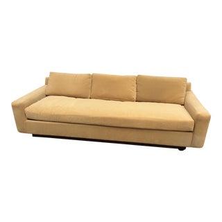 1970s Mid Century Modern Thayer Coggin Gold Velvet Floating Sofa