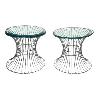Warren Platner for Knoll Trumpet Wire Base Side Tables - A Pair