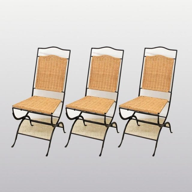 Pottery Barn Metal & Wicker Patio Chairs - S/3 - Image 8 of 8