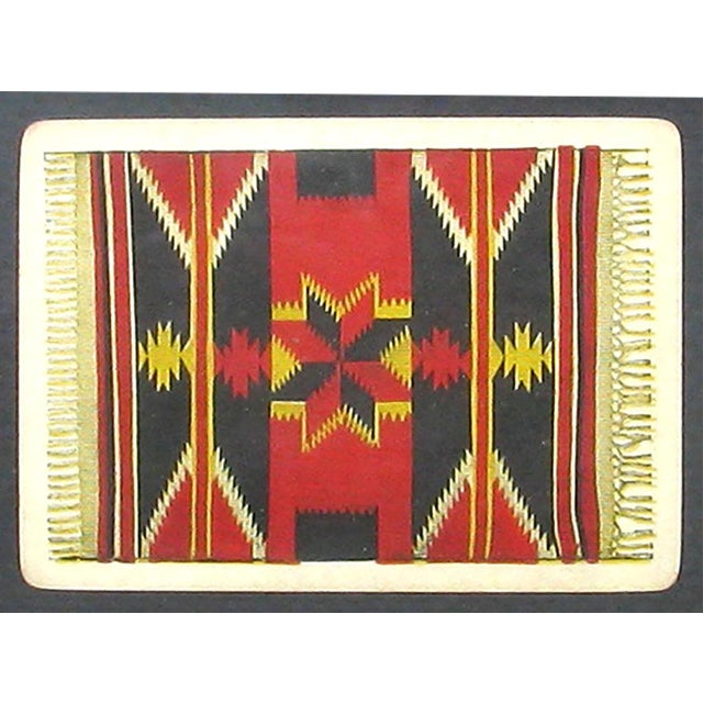 Mid-Century Southwestern Pueblo playing cards with two photographic images. The first is of a Moki (Hopi) tribe members...