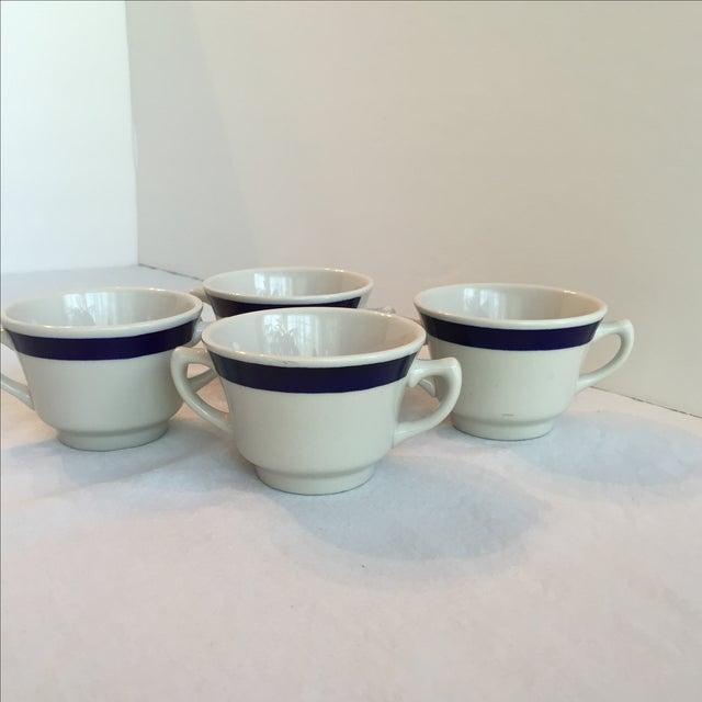 White & Blue Bouillon Soup Bowls - Set of 4 For Sale - Image 4 of 11