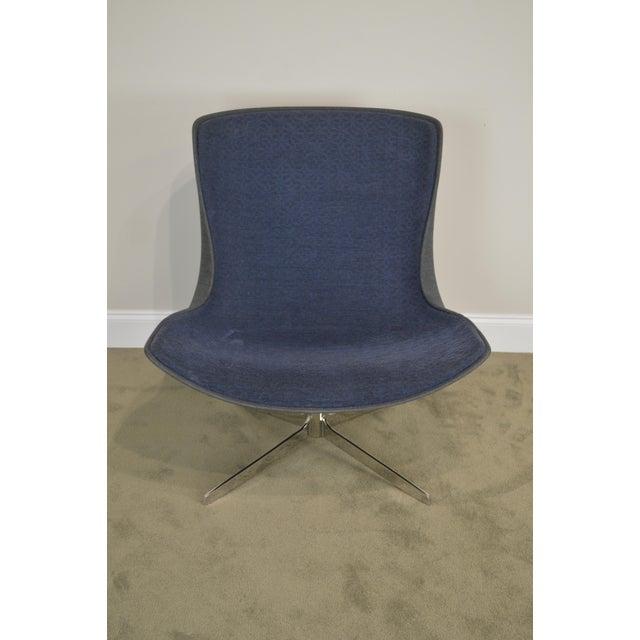 Monica Forster for Bernhardt Chrome Base Swivel Vika Lounge Chair For Sale In Philadelphia - Image 6 of 13